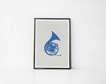 Blue French Horn HIMYM | Art Prints