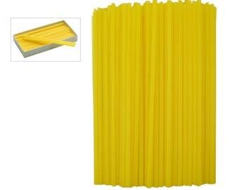8 oz Box of Yellow Sprue Wax 6 Gauge 4.12 mm Jewelry Pattern Making Investment Wax - WAX-312.06