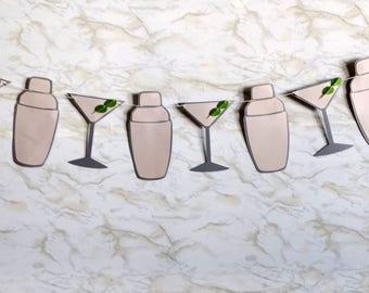 Martini & Shaker Garland