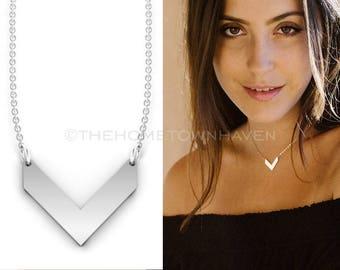 Minimalist V Necklace - Gold Filled chevron necklace, silver chevron necklace, Rose Gold chevron