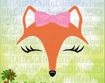 Fox SVG, Fox Face svg, Woodland SVG, Woodland Animal svg, Kids svg, Fox Shirt, Commercial Use SVG, Clip Art, Cut File, eps, dxf, png