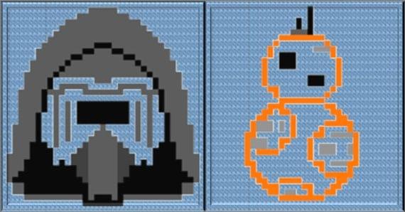 Crochet Chart Force Awakens Star Wars Fans Graph Kylo