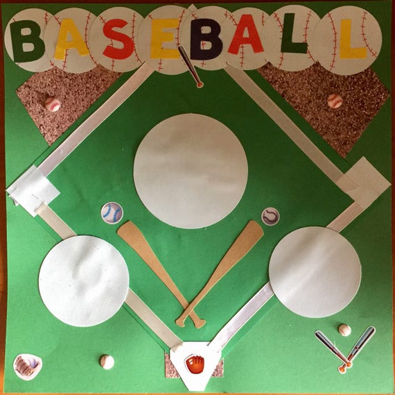 Scrapbooking: Ball Game, 12x12 Premade Scrapbook Page