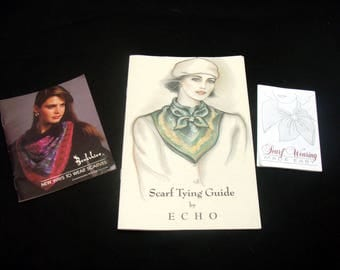 Vintage echo scarf tying guide-old scarves booklets