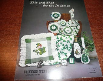 Vintage Spinning Wheel This and That For The Irishmen Cross Stitch Book