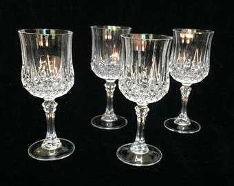 Cut Glass White Wine Goblets