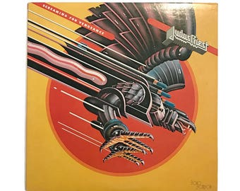"""Judas Priest, """"Screaming for Vengeance"""", vinyl record album, classic rock LP, heavy metal, 80s, rob halford, you've got another thing comin'"""