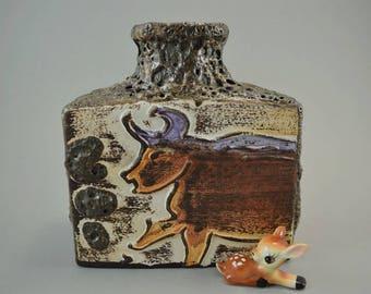 Vintage vase / Scheurich / Decor Montignac / 281 19 / Fat Lava | West Germany | WGP | 60s