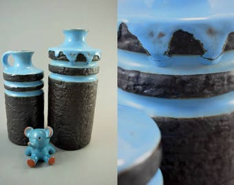 Vintage set of 2 vases / Haldensleben / 3081 B and 4087 B   East Germany   60s