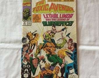 THE TOXIC AVENGER Vol 1, No. 4: Lethal Linda and the Legend of Sludgeface (Comic Book)
