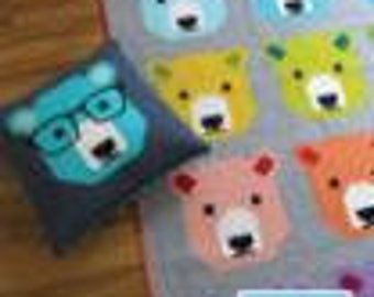 Bjorn Bear Pattern by Elizabeth Hartman- Includes Pillow Pattern and 3 Quilt Size Pattern Options
