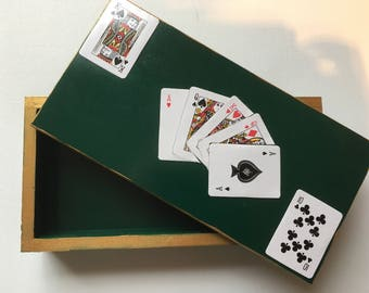 Bridge card box - Playing card storage box