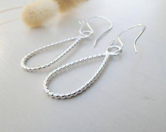 Sterling silver earrings, drop earrings, bohemian earrings, 925 silver earrings, for her