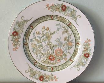 Stunning vintage Mikasa Kabuki serving platter adorned with festive flower design for Boho, Farmhouse or tropical Old Florida kitchen!