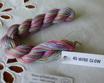 Beaded No. 8 HOUSE OF 45 WINE GLOW collar EMBROIDERY