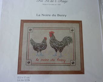 The black Berry cross stitch card of over the Angel