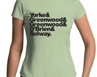 Radiohead Band Line-Up Womens Crew T-Shirt