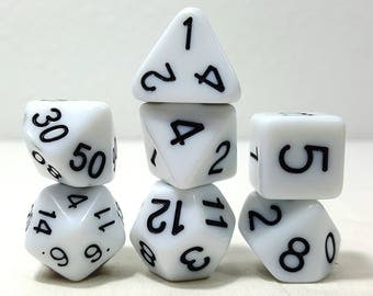 Perfect Plastic Dice - Gloss Polish with Ink - White / Black Ink