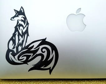 Fox Decal / Long-tailed Fox Decal for Car Windows, Macbooks, Tablets, Tumblers, Coolers, Mirrors, Glass, Tablets, Kindles, iPads