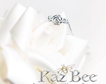 Dainty Silver Rose Bracelet