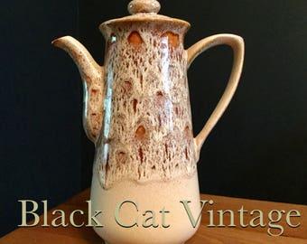 NEW, Fosters, pottery, honeycomb, coffee, tea, pot, vintage, retro, 80's, Cornish, Cornwall, kitchen