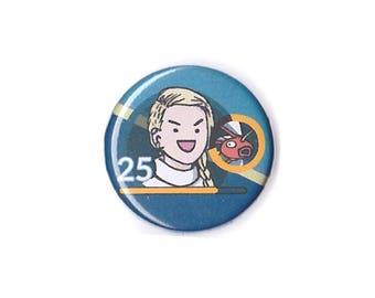 FULL Custom Portrait + Badge - personalised pin, custom portrait pin, custom avatar, portrait gift, custom comic portrait, comic avatar