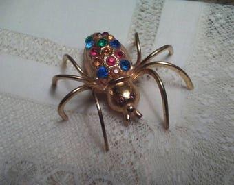 Vintage Spider Brooch Pin