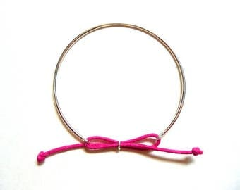 """Fuchsia"" Bangle Bracelet in 925 Silver"