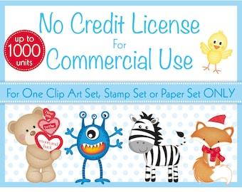 Commercial Use License, No Credit Required License, Clip Art Sets, Digital Stamp Sets, Digital Paper Packs