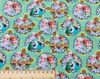 Frozen fabrics,  New Arrival, digital printed, swim fabric/ minky / brushed poly knitRC065y  - 1 meter