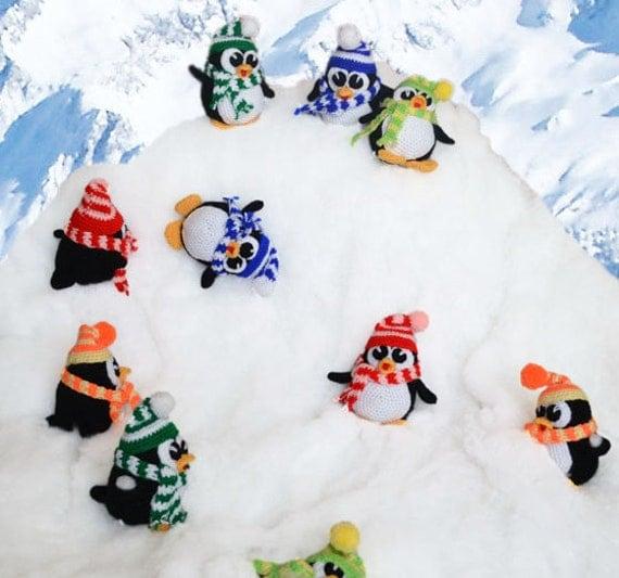 Crochet Penguin Pattern Christmas Penguin Amigurumi Toy