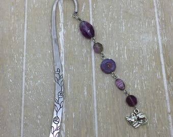 Bookmark purple cat