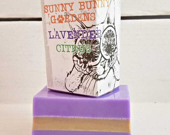 Lavender Citrus Soap Bar, Lavender Soap, Organic Lavender Orange Soap, Handmade Lavender Soap, All Natural Soap, Vegan Orange Soap