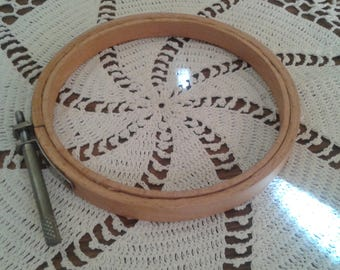 "Vintage Wooden 4"" Embroidery Hoop"