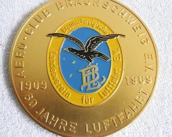 Medal-Aero Club Braunschweig e.v.-60 years aviation-1909-1969-plaque