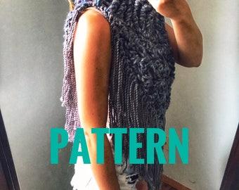 Crochet Pattern for Triangle scarf, Triangle wrap, Triangle Shawl, Oversized Crochet Scarf, Bandana Scarf pattern, Poncho Pattern