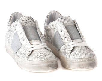 Grey Genuine Leather Sneakers, Leather Sneakers, Grey sneakers, Everyday Sneakers,  Casual Extravagant Sneakers, Autum Sneakers,