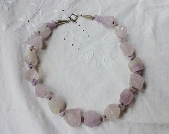 Raw Amethyst chunky necklace