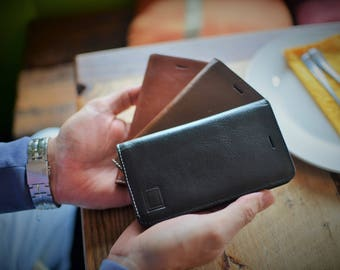 Handmade Samsung Galaxy S7 Case Genuine Vegetable Tan Leather / Italian Leather