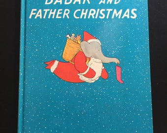 Vintage edition of Babar and Father Christmas by Jean de Brunhoff