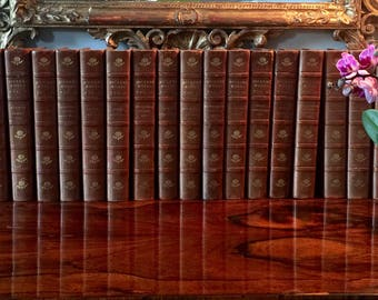 The Biographical Edition of the Works of Charles Dickens, 19 volumes, original calf binding, Chapman and Hall, 1902