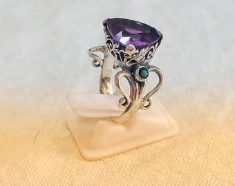 amethyst style statement ring