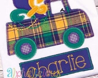 Mardi Gras Truck Applique Design- ZigZag