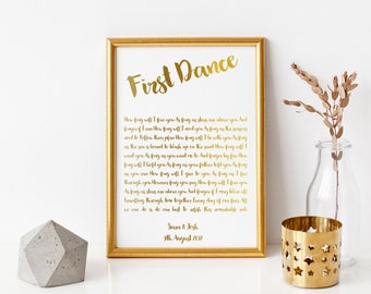 First Dance Print With Gold Foiling