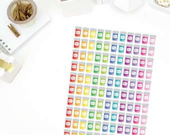 Rainbow Rx Bottles Stickers! Perfect for your Erin Condren Life Planner, calendar, Paper Plum, Filofax!