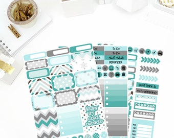 Chilly Winter Weekly Kit Stickers! Perfect for your Erin Condren Life Planner, calendar, Paper Plum, Filofax!