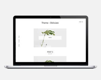 OBLIVIATE - Responsive Wordpress Theme - Responsive Blogger Template - Sticky Scrolling Sidebar, Popular Posts Slider, Minimalist