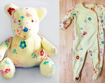 Baby Blanket from Clothes, Baby Hospital Blanket Stuffed Animal, Hospital Blanket Animal, Hospital Blanket Stuffed Animal, Baby Onesie Bear