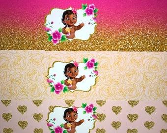 12 - Baby moana Cupcake wraps
