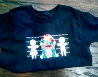 Ginger Bread House faux smocked tee